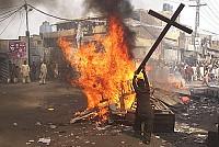 Croce devastata