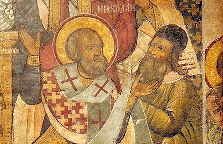 San Nicola schiaffeggia Ario